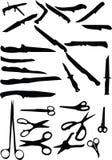 knivsax vektor illustrationer