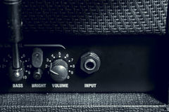 Knob control of  amplifier background. Stock Photos