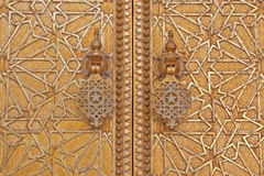 Knob door in the Royal Palace in Fes (Morocco) Stock Photography