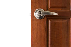 Knob locks. With keys on the door Royalty Free Stock Images