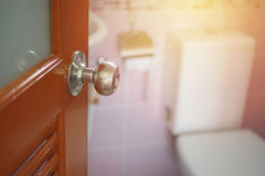 Knob with opened door Stock Images