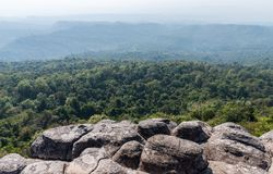 The knob stone ground on the cliff. The knob stone ground on the cliff near the viewpoint of the national park,Phitsanulok Thailand Stock Image
