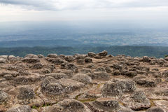 KNOB STONE. Phu hin rong kla national park Thailand Stock Photos