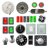 Knob switch and dial design elements Royalty Free Stock Photo