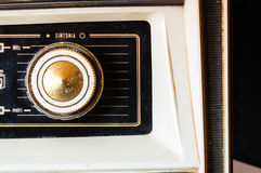 Knob of vintage tube radio Stock Image