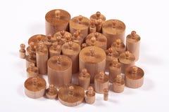 Knobbed Montessori cylindrar Arkivfoto