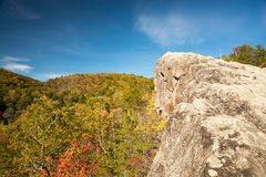 Knobby Rock 006. A fall view from Knobby Rock Overlook in Blanton Forest State Nature Preserve near Wallins, Kentucky Stock Photo