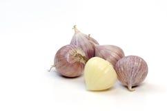 Knoblauch auf einem weißen Hintergrund. stockfoto