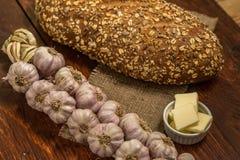 Knoblauch-Brot und Butter Lizenzfreie Stockbilder
