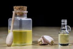 Knoblauch das beste Besondere für Grippe Der Sirup, der aus zugebereitet wird, heilen Stockbild