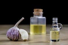 Knoblauch das beste Besondere für Grippe Der Sirup, der aus zugebereitet wird, heilen Lizenzfreie Stockfotografie