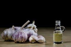 Knoblauch das beste Besondere für Grippe Der Sirup, der aus zugebereitet wird, heilen Stockfoto