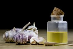 Knoblauch das beste Besondere für Grippe Der Sirup, der aus zugebereitet wird, heilen Stockbilder
