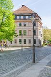 Knoblauchhaus在Nikolaiviertel尼古拉斯`处所在柏林 库存图片