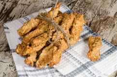 Knoblauchkäse-Brotstöcke Stockfotos