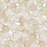 Knoblauchmuster Nahtloser Hintergrund mit beige Knoblauch Vektor te lizenzfreie abbildung