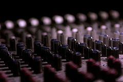 Knobs on a control panel stock images