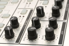 Knobs on a Drum Machine. Great music background Stock Photos