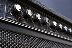 Knobs on a guitar amp Royalty Free Stock Photo