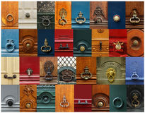 Knobs and handles collage Stock Image