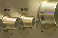 Knobs of power amplifier Royalty Free Stock Photo