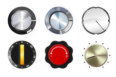 Knobs set Royalty Free Stock Photography