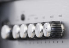 Knobs from the side blurry Stock Photo