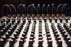 Knobs of a studio soundboard Royalty Free Stock Images