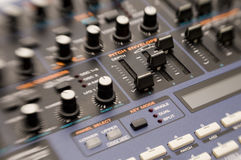 Knobs on Synthesizer Royalty Free Stock Photography