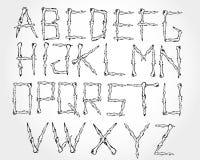 Knochen alphabetisch lizenzfreie abbildung