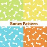 Knochen kopieren, bunter Hintergrund mit den Knochen lizenzfreie abbildung