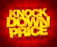 Knock down price sale banner. Royalty Free Stock Images