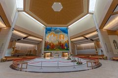 Knock, Mayo, Ireland. Ireland`s National Marian Shrine in Co Mayo, visited by over 1.5 million people each year. Knock Shrine. Knock, Mayo, Ireland - July 17th stock image
