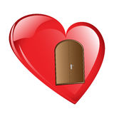 Knock on my heart's door Royalty Free Stock Photo