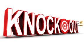 Knock-out Fotografia Stock Libera da Diritti