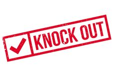 Knock Out rubber stamp Stock Images