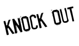Knock Out rubber stamp Stock Photography