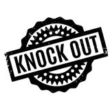 Knock Out rubber stamp Royalty Free Stock Photography