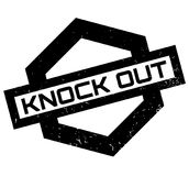 Knock Out rubber stamp. Grunge design with dust scratches. Effects can be easily removed for a clean, crisp look. Color is easily changed Stock Photo