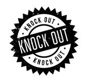 Knock Out rubber stamp. Grunge design with dust scratches. Effects can be easily removed for a clean, crisp look. Color is easily changed Royalty Free Stock Photo