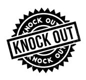 Knock Out rubber stamp. Grunge design with dust scratches. Effects can be easily removed for a clean, crisp look. Color is easily changed Royalty Free Stock Photography