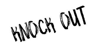 Knock Out rubber stamp. Grunge design with dust scratches. Effects can be easily removed for a clean, crisp look. Color is easily changed Royalty Free Stock Image