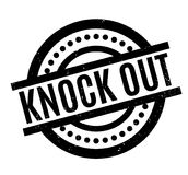 Knock Out rubber stamp. Grunge design with dust scratches. Effects can be easily removed for a clean, crisp look. Color is easily changed Stock Image