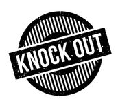 Knock Out rubber stamp. Grunge design with dust scratches. Effects can be easily removed for a clean, crisp look. Color is easily changed Stock Photography