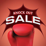 Knock out sale heading design for banner or poster. Sale and Dis Royalty Free Stock Photos