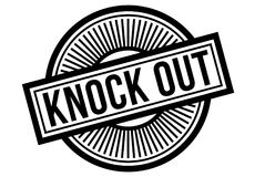 Knock Out typographic stamp. Typographic sign, badge or logo Royalty Free Stock Image