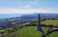 Knockagh War Monument. In Greenisland Co Antrim Northern Ireland stock photos