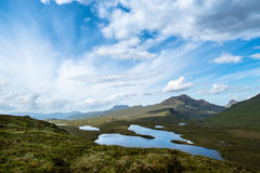 Knockan Crag in the schottish highlands Royalty Free Stock Photography