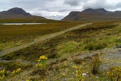 Knockan Crag w Szkocja obrazy royalty free