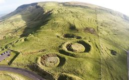 Knockdhu Moats Cairncastle. Larne neolithic old cold Stock Photos